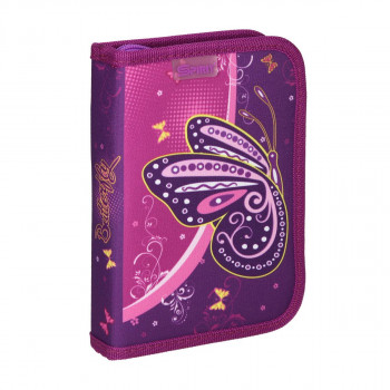 Pencil case ''BUTTERFLY PURPLE'', 1-Zipper