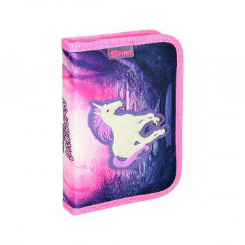 Pencil case 3D ''MAGIC UNICORN'', 1-Zipper, 28-pcs