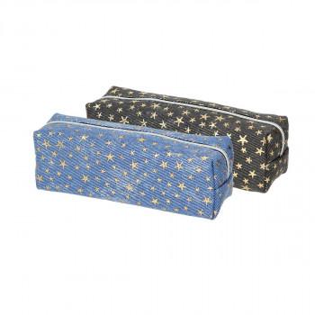 Pouch pencil case ''MINI STARS'', 2/1 (Assorted colours)