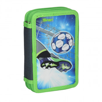 Empty pencil case ''FOOTBALL GOAL'', 2 zipper