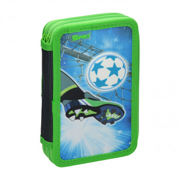 Pencil case 3D ''FOOTBALL GOAL'', 2-Zipper, 28-pcs