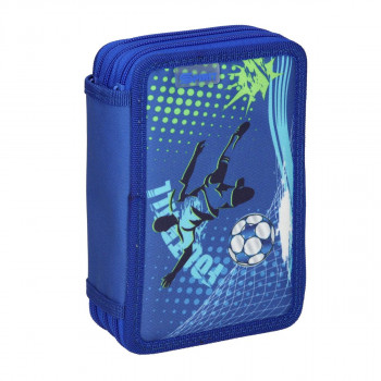 Empty pencil case ''FOOTBALL GOAL'', zipper