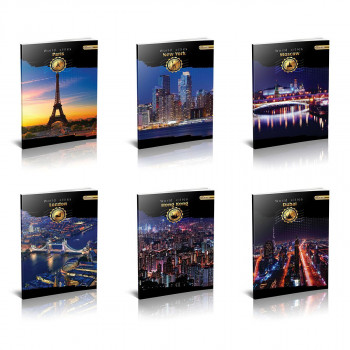 School notebook A4 ''City'', hard covers, 96 sheet, square
