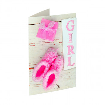 Greeting card 3D ''Baby girl 01''