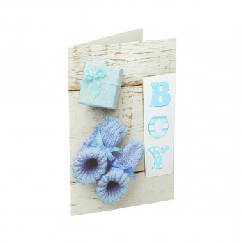 Greeting card 3D ''Baby boy 02''