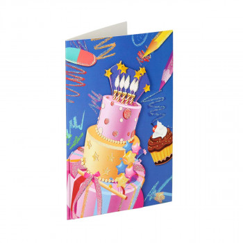 Greeting card 3D ''Happy Birthday 12''