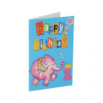 Greeting card 3D ''1st Birthday 02''