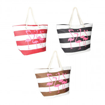 Beach bag ''Flamingos''