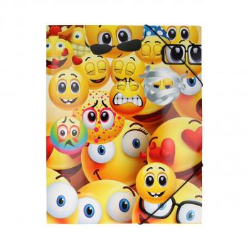Fascikla ''Happy Smile 3''A4, sa 3 klapne i gumom