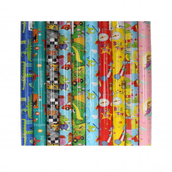 Gift Wrap paper ''KIDS'', assorted colours