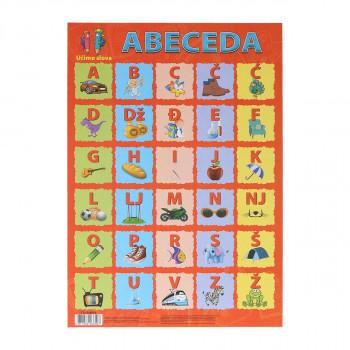 Učimo slova (Abeceda), 46x67cm