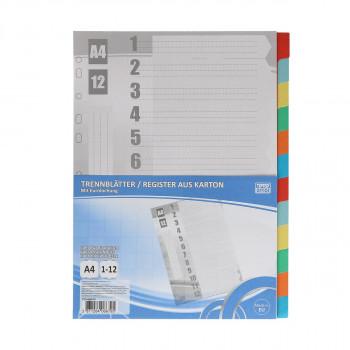 Index Kartonski A4, 1-12