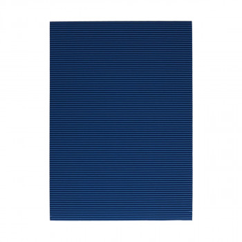 Corrugated paper, dark blue