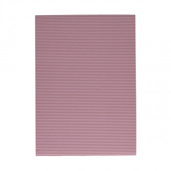 Karton rebrasti, pastelno roza