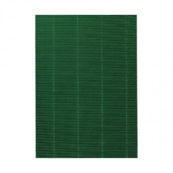 Karton rebrasti, metalik zelena