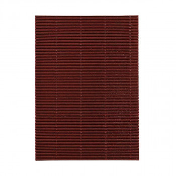 Corrugated papeer, metallic dark red