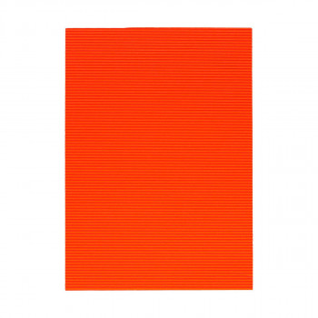 Corrugated paper, fluo-dark orange