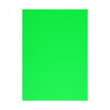 Corrugated paper, fluo green