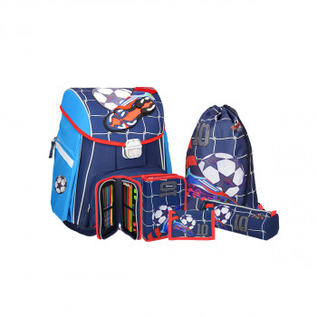 School bag set ''FOOTBALL NO. 10'' SMART  5-Pcs (metal buckle)