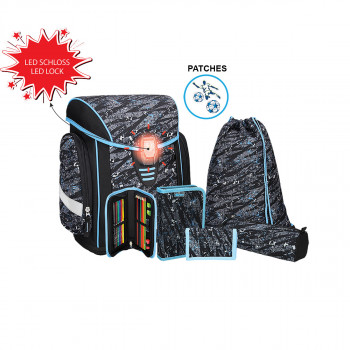School bag set ''COSMO 01'' 6-Pcs (LED buckle)