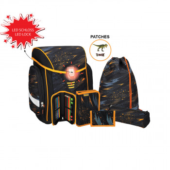 School bag set ''COSMO 05'', LED lock buckle