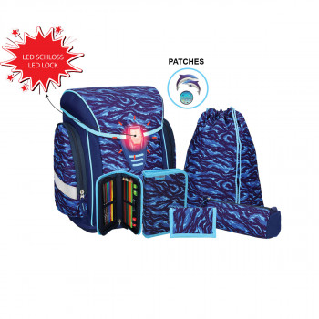 School bag set ''COSMO 06'', LED lock buckle