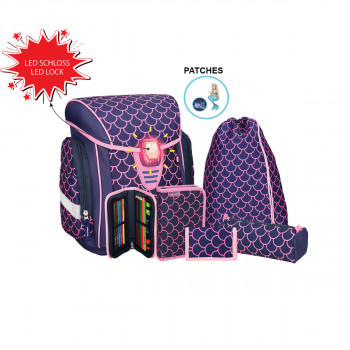 School bag set ''COSMO 07'' 6-Pcs (LED buckle)
