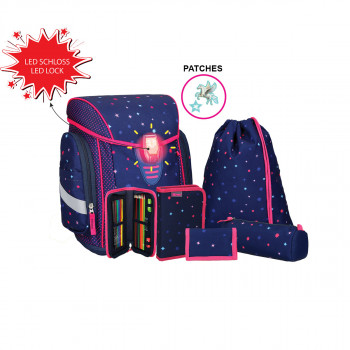 School bag set ''COSMO 08'', LED lock buckle