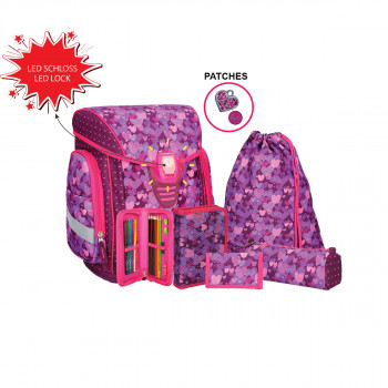 School bag set ''COSMO 09''6-Pcs (LED buckle)