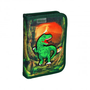 Pencil case 3D ''T-REX'' 1 zipper, 50 parts