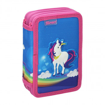 Pencil case 3D ''UNICORN'', 3-Zipper, 28-pcs