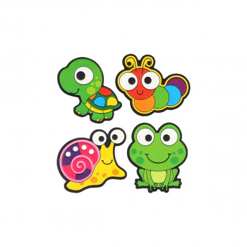 Sticker ''SNAIL & FROG'' Patch Me, 4/1 (Blister)