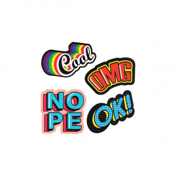 Sticker ''COOL/OMG'' Patch Me, 4pcs blistercard