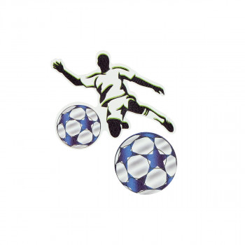 Sticker ''FOOTBALL PLAYER'' Patch Me, 2pcs blistercard