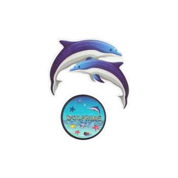 Sticker ''DOLPHINS'' Patch Me, 2pcs blistercard