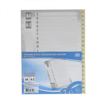 Divider cardboard A4, A-Z