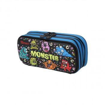 Prazna pernica 3D ''Monster'', 1 ziper, L