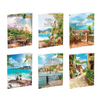 Notebook Premium A4 ''Nature'', soft covers, 52 sheets, squares