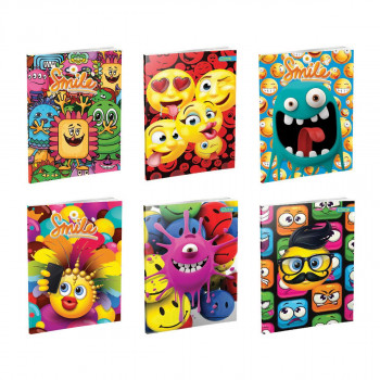 Notebook Premium A4 ''Smile'', soft covers, 52 sheets, clear