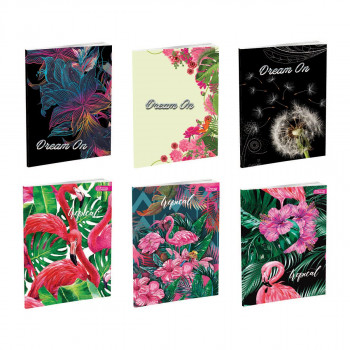 Notebook Premium A4 ''Flowers'', soft covers, 52 sheets, squares