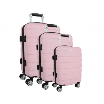 Trolley Case Set ''Skymate'' 3/1, Pink