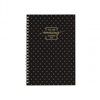 Exercise Book ''Gold'' A5 Soft Cover, Squared