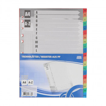 Dividers PP A4, A-Z