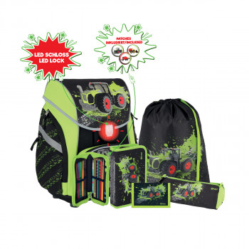 School bag set ''TRACTOR'' PRO LIGHT PREMIUM 6-Pcs (LED buckle)