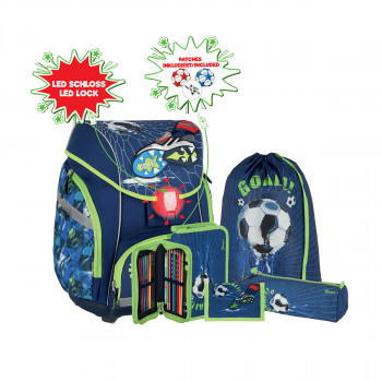 School bag set ''FOOTBALL GOAL '' PRO LIGHT PREMIUM 6-pcs (LED buckle)