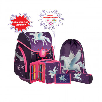 School bag set ''PEGASUS 3D'' PRO LIGHT PREMIUM 6-Pcs (LED buckle)