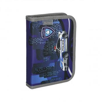 Pencil case ''POLICE'', 1-Zipper, 19-pcs