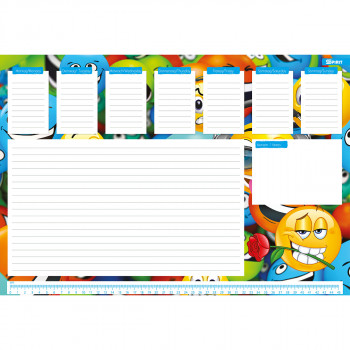 Desk Pad, 48x33cm, 30 Sheets, Smile