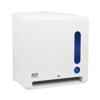 Towel dispenser with sensor