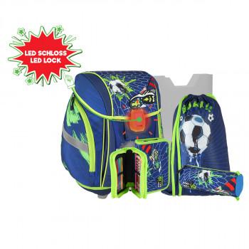 School bag set ''FOOTBALL GOAL'' 3D NEW START 5-Pcs (LED buckle)